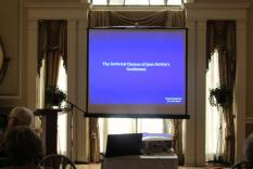 Ready for the lecture (photographer Kathleen Burke)