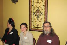 Laura Whitlock, Panelists Kristin Leahey and David Woolley (Margo Malos, Photographer)