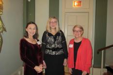Debra Ann Miller, Elisabeth Lenckos and former JASNA President, Marsha Huff (Margo Malos, Photograper)
